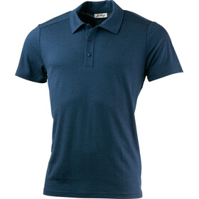 Lundhags Merino Light Polo Tee Men Eclipse Blue